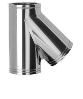 DOBLE PARED INOX 316L-INOX 304 TE 135º 316L INT. DN 200