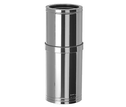 DOBLE PARED INOX 316L-INOX 304 MODULO EXTENSIBLE LARGO 550-900 MM. 316L INT. DN 200