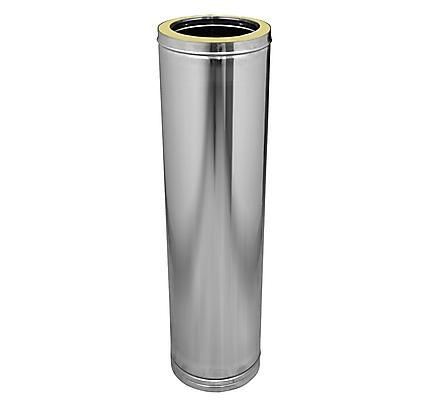 DOBLE PARED INOX 316L-INOX 304 MODULO RECTO CORTO 293 MM. 316L DN 250