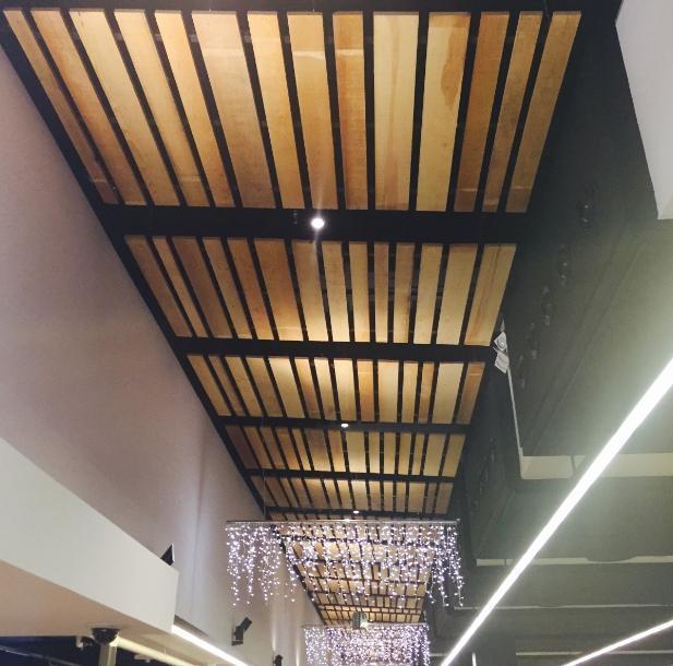 falso techo madera pino largo variable - Falsos Techos De Madera