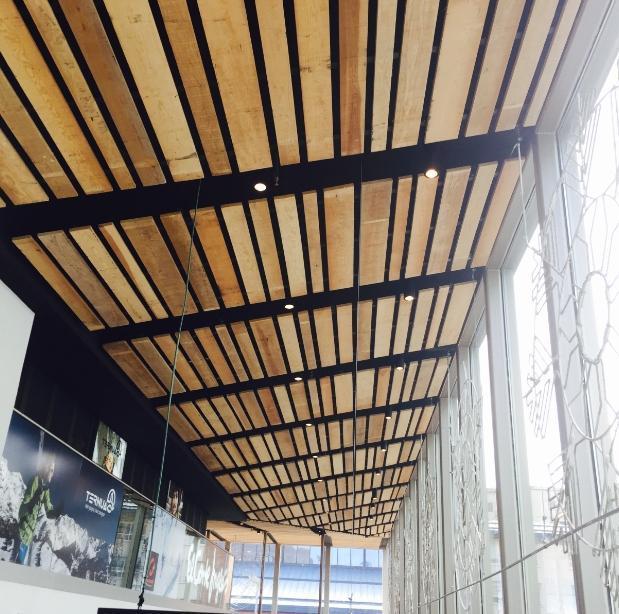 falso techo madera pino largo variable - Falso Techo Madera