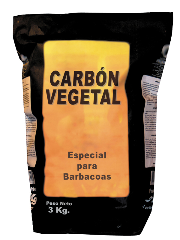 23023002 CARBON VEGETAL BARBACOA SACO  10 KG