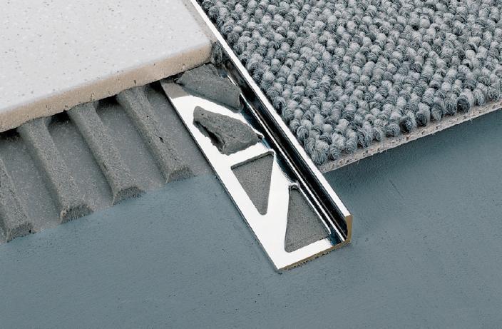 Perfil de remate durosol acero inoxidable h:12,5 l:2500 mm.