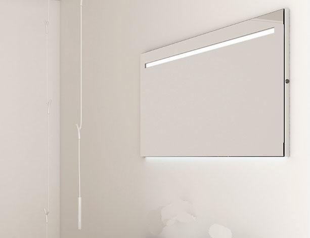 espejo strato con luz led superior xcm
