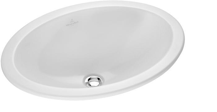 Ovalado, Blanco, 430 mm, 285 mm, 8,8 kg Villeroy /& Boch 61611001 Lavabo Ovalado Lavabos